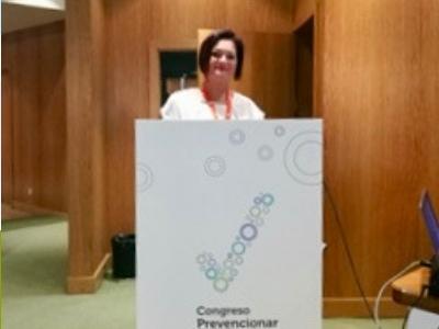 Rosa Luz Carreño en el Congreso Prevencionar